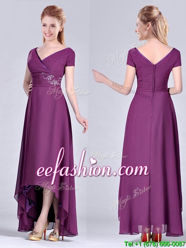Mother Of The Bride Dresses Dark Purple 57