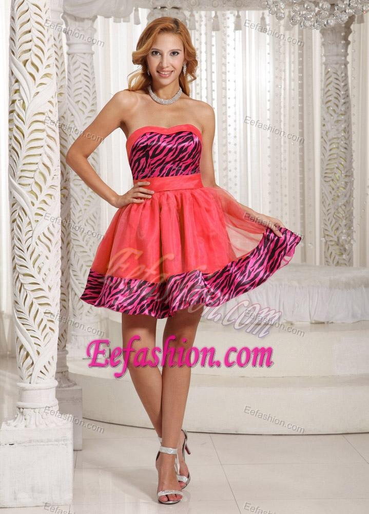 Zebra And Orange Prom Dresses 54