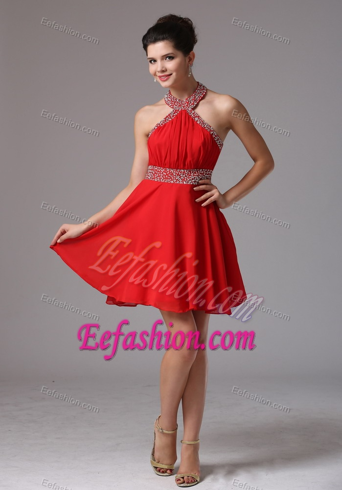 Top Mini-length Semi-formal Prom Dress for Cheap with Ruching