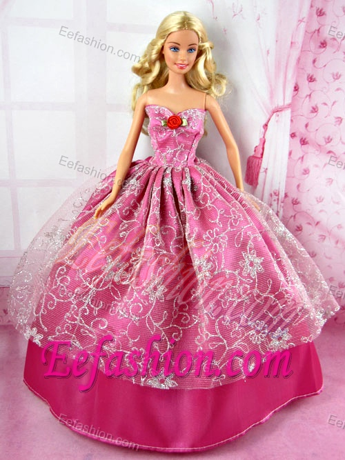 Beautiful Red Party Tulle Clothes Fashion Dress Hot Pink for Noble ...