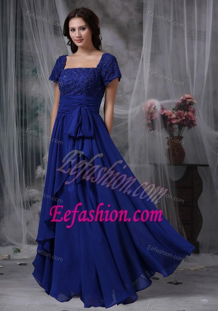 size 24 royal blue chiffon dress