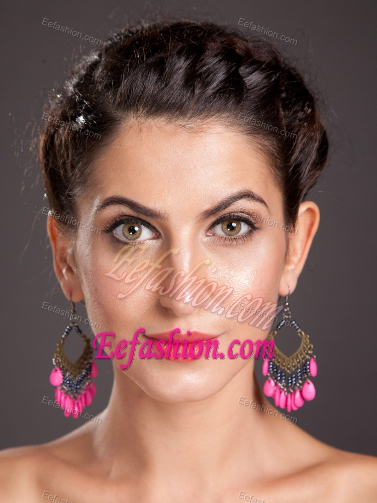 Shining Alloy Chandelier Drop Earrings