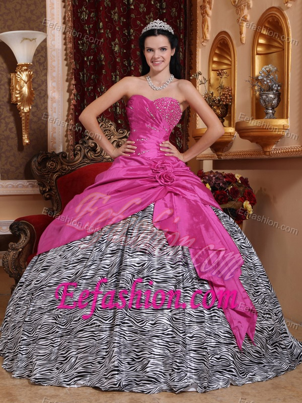Zebra Print Quinceanera Gowns 2017