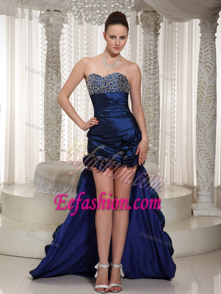 Navy blue and gold prom dress 2017