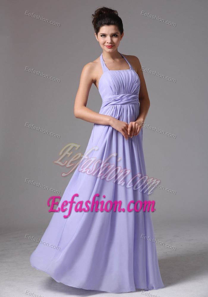 Graceful Lilac Halter Maternity Bridesmaid Dresses with Beading and ...