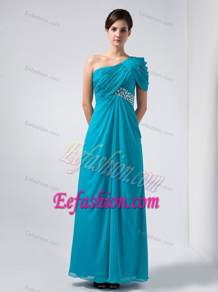 Wedding Guest Dresses Perfect Baby Blue One Shoulder Wedding Guest