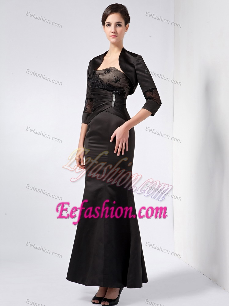 Wedding Guest Dresses Black Strapless Discount Wedding Guest Gown