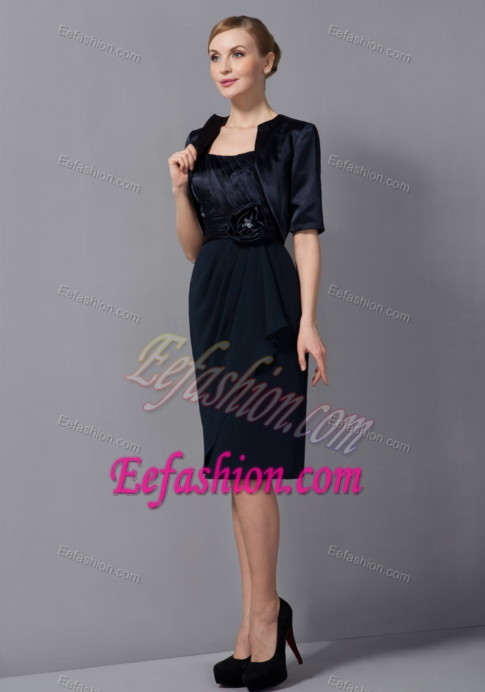 Low Price Strapless Knee Length Wedding Guest Dress In Black
