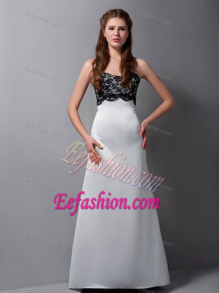 Gray A Line Strapless Semi Formal Wedding Guest Dress For Cheap In Lace