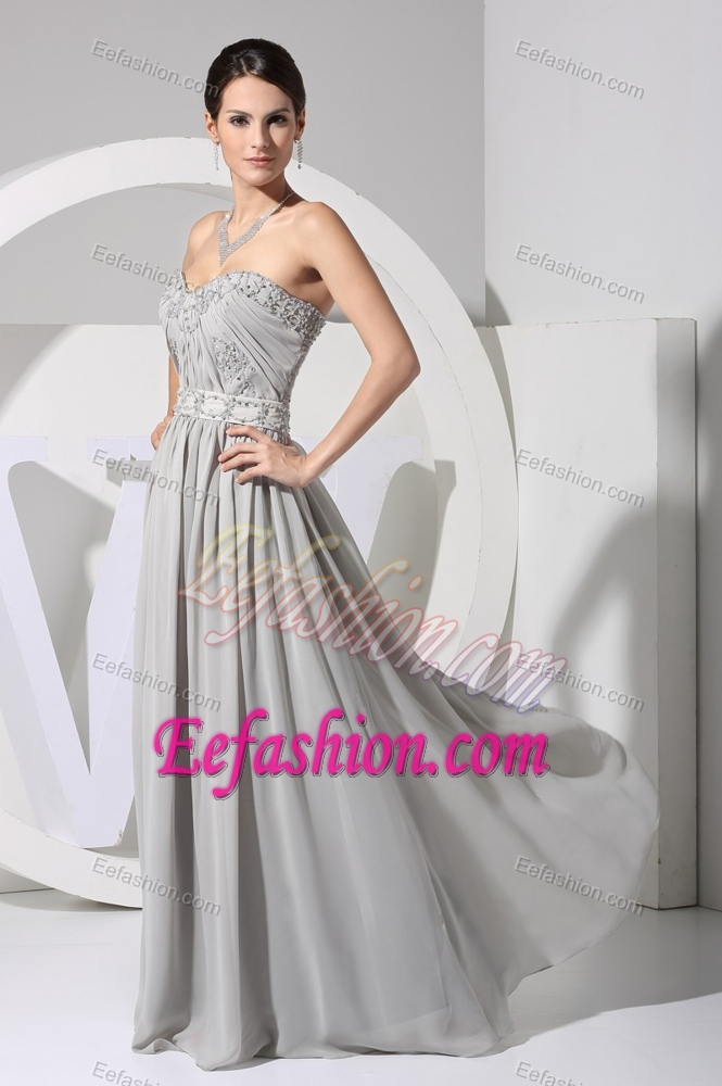 Beaded Ruched Wedding Guest Dress With Appliques For Wholesale Price