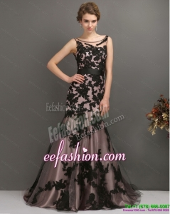Sexy Appliques Multi Color 2015 Prom Dress with Appliques