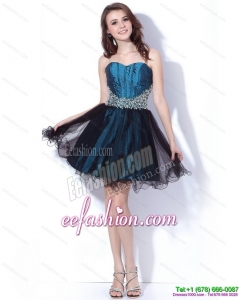 Sexy Multi Color Sweetheart Sequined and Ruffled Prom Dresses for 2015