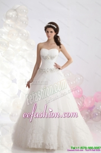 Amazing 2015 Sweetheart Wedding Dress with Brush Train