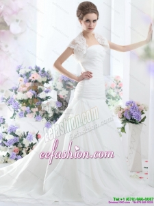 Amazing A Line Strapless Wedding Dress for 2015