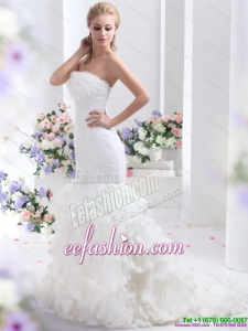 2015 Designer Brand New Strapless Wedding Dress with Mermaid