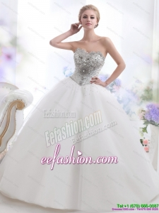 Designer 2015 Beading and Appliques Wedding Dresses