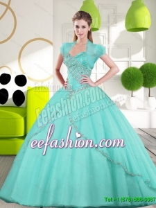 2015 Discount Sweetheart Ball Gown Quinceanera Gown with Appliques