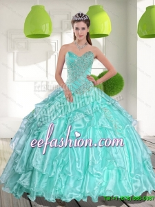 Custom Made Ball Gown Sweetheart Appliques and Beading Quinceanera Dresses