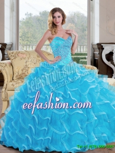 Exquisite Ball Gown Sweetheart Quinceanera Dress with Beading