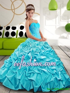 Free and Easy Sweetheart Sweet 16 Dresses with Appliques and Pick Ups