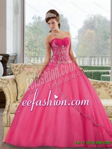 Gorgeous Sweetheart Floor Length 2015 Quinceanera Dresses with Appliques