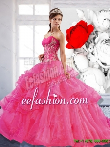 Pretty Sweetheart Ball Gown 2015 Quinceanera Dress with Appliques