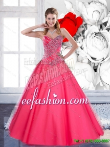 2015 New Style Sweetheart Quinceanera Dresses with Beading