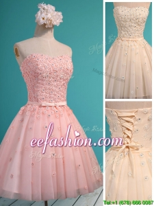 Exquisite Applique and Beaded Sweetheart Dama Dress in Mini Length