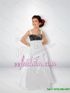 Exclusive A Line Straps Camo Flower Girl Dresses with Sweep Train