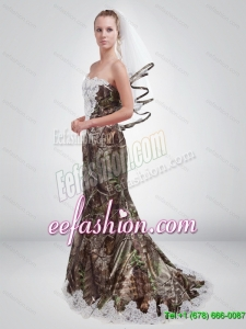 2015 Cheap Mermaid Sweetheart Camo Prom Dresses in Multi Color