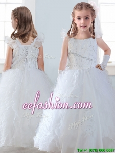 Discount Organza Straps Mini Quinceanera Dresses with Sequins and Ruffles
