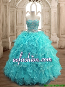 Hot Sale Big Puffy Sweet 16 Dress with Beading and Ruffles