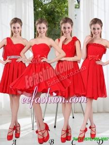 2015 Summer The Brand New Style Dama Dress Chiffon Ruching with A Line