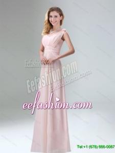Beautiful Chiffon Dama Dress in Light Pink for 2015
