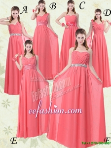 Fall 2015 New Arrival Watermelon Dama Dresses with Ruch and Beading