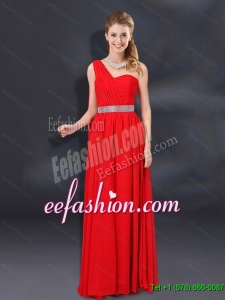 One Shoulder Empire Sequins 2015 Beautiful Dama Dresses