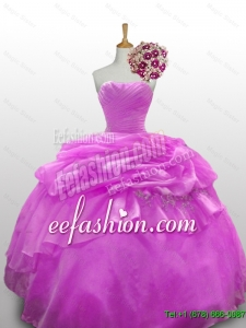 2015 Fall Top Seller Beaded Quinceanera Dresses with Ruffled Layers