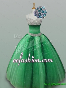 2015 Fall Beautiful Spaghetti Straps Quinceanera Dresses with Beading