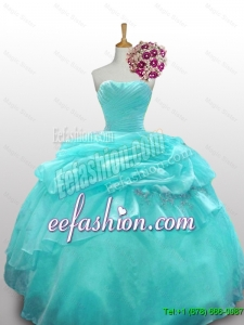 2015 Fall Elegant Quinceanera Dresses with Paillette and Ruffled Layers