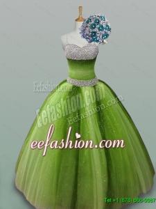 2015 Fall Elegant Quinceanera Dresses with Spaghetti Straps