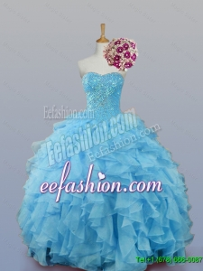 2015 Fall Pretty Sweetheart Quinceanera Dresses with Ruffles