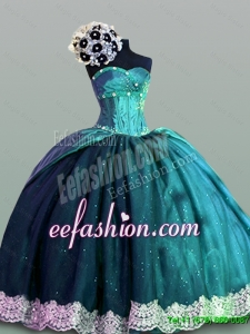 2015 Winter Perfect Sweetheart Quinceanera Dresses with Lace
