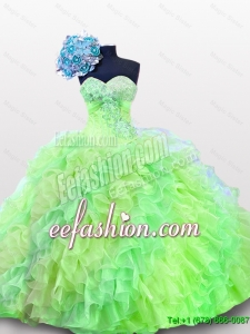 2016 Summer Beautiful Quinceanera Dresses with Sequins and Ruffles