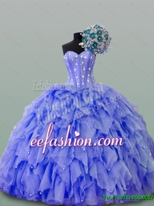 Pretty 2016 Summer Quinceanera Dresses with Beading and Ruffles