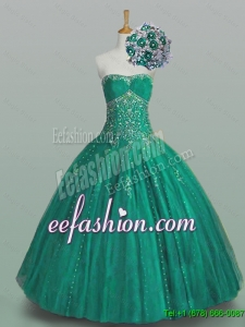 Pretty 2016 Summer Strapless Quinceanera Dresses with Beading and Appliques