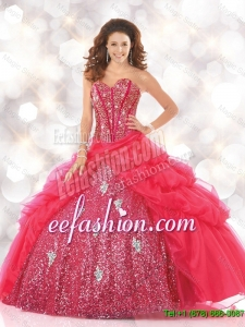 New Style Sweetheart Sweet 16 Dresses with Sequins and Beading