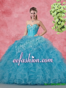 Amazing Ball Gown Quinceanera Gowns with Beading and Ruffles