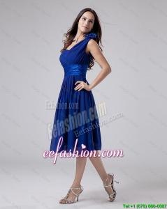 2016 Wonderful One Shoulder Belt Short Prom Dress in Royal Blue