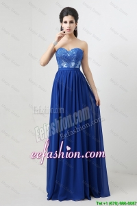 Cheap Sweetheart Blue Prom Dresses with Appliques