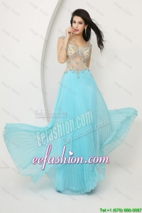 Perfect Beaded Straps Zipper Up Prom Dresses with Cap Sleeves